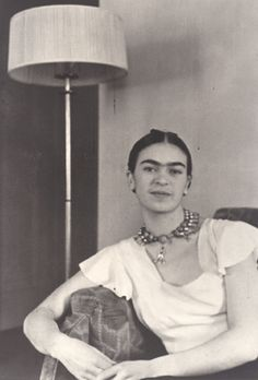 Frida Kahlo by the Lamp, New York City, 1931. Photo by Lucienne Bloch.