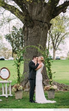 From far far away, around a budding oak tree, a love story unfolded into a classic and romantic wedding. Clare