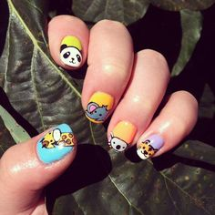 Zoo Nails of the Day: Nothing screams summer like a visit to the zoo :D