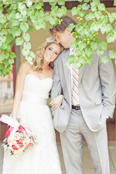 California Ingleside Vineyard wedding - love the tie/tux Wedding Photography Poses, Wedding Poses, Wedding Photoshoot, Love Photography, Wedding Couples, Wedding Dresses, Wedding Suits, Wedding Portraits, Cute Wedding Ideas