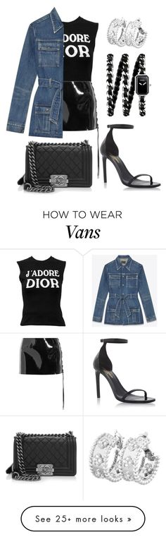"""""""Naughty"""" by blayne26 on Polyvore featuring Christian Dior, Anthony Vaccarello, Yves Saint Laurent, Chanel and Van Cleef & Arpels"""