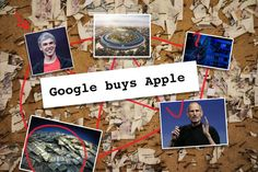 Dow Jones said that Google was buying Apple the algos bought it
