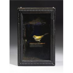 Artwork by Joseph Cornell, Untitled (Yellow Bird Habitat), Made of illuminated box construction Collages, Collage Artists, Joseph Cornell Boxes, Shadow Box Art, Found Art, Assemblage Art, Altered Art, Cool Art, Sculptures