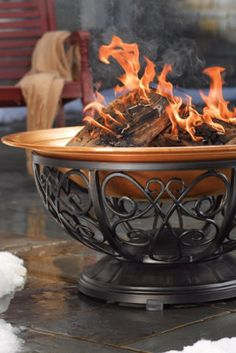 Outdoor Copper Fire Pit.