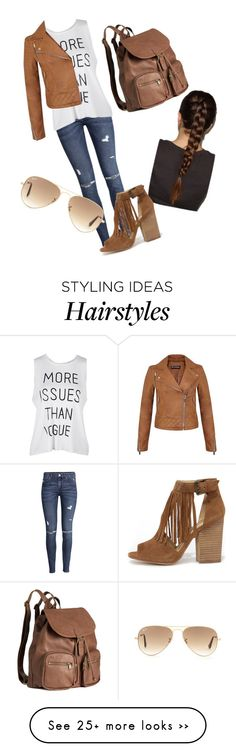 """""""Untitled #1"""" by sweet-girl-bg on Polyvore featuring H&M, Miss Selfridge, Ray-Ban and Chinese Laundry"""
