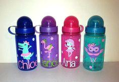 Dance Party Personalized Kids Water Bottle by EllerysDesigns, $8.00