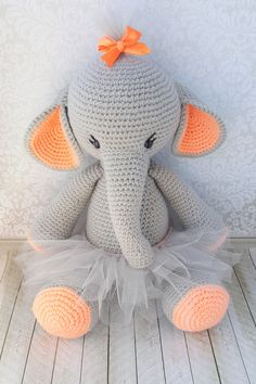 Amigurumi Stuffed Elephant