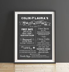 A beautiful way to share your love story and who you are as a couple with your wedding guests. After the wedding, this memento is like a piece of art