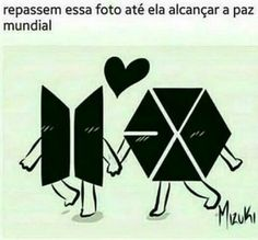 Can't read this but I don't need to be able to. As both an A.R.M.Y and a EXO-L i hope we can forever coexist. They are both amazing groups of talented people!!