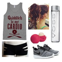 """""""Work out"""" by hey-its-tati on Polyvore featuring NIKE and Eos"""