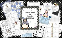Free Winter Write & Color By Sight Word is a FUN way for kids to practice words adapted by Lucy Calkins high frequency word list and Pre-Primer Sight Words on the Dolch list. This can be used to supplement teaching of sight words to my young learners.
