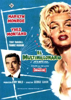 This  Spanish poster for ''Lets Make Love'' used a picture of Marilyn that was 7 years old.
