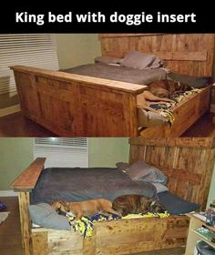 I'd go an extra step to keep the frame Queen Size & install drawer hinges so you can push it back under & out of the way