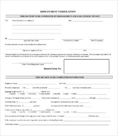 Employment Verification Form Sample Best Samplecondolenceletter.gif 414×524  Gallery  Pinterest .