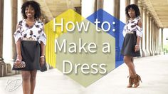 HOW TO MAKE A COLD-SHOULDER DRESS | PATTERNS & ILLUSTRATION INCLUDED - YouTube