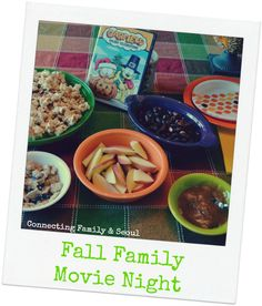 Fall Family Movie Night ~ a fun tradition with a simple menu that is perfect for fall.