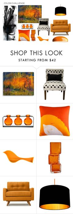 """Orange and black"" by suzanne-svajda ❤ liked on Polyvore featuring interior, interiors, interior design, home, home decor, interior decorating, 37 West, Ex.t, Thrive and FontanaArte"