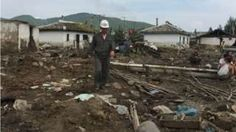 Image copyright                  AFP Image caption                                      In some areas entire villages appear to have been washed away                                Aid agencies have warned that North Korea is facing a humanitarian disaster after tens of thousands of people were displaced by flooding. The UN and the International Red Cross say the government has reported 133 deaths with nearly 400 people missing and homes and