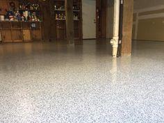 Decorative and Slip Resistant Epoxy Flake Garage in Wilmington, North Carolina.