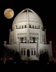 Breathtaking! Photo taken by Nat Carmichael on March 20, 2011 of the Baha'i Temple in Evanston, Illinois (really, it's Wilmette)