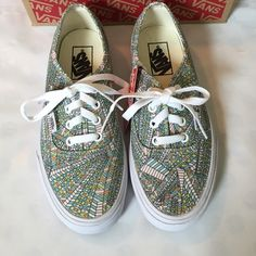 VANs NWB Abstract Tribal Print Sneakers super cute NWB multi-color abstract Tribal print lace-up sneakers from VANs. size 7 women's. **no trades** price firm unless bundled 6D2835 Vans Shoes Sneakers