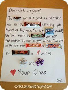 candy gram for a teacher