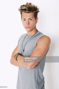 James McVey from the band The Vamps is photographed for Word Up! on June 18…