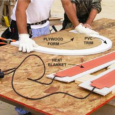 Tips for Working with PVC Trim: Bend it to Fit - Treat it right and PVC trim will last forever. Use these tips for installing PVC trim the right way. Read more: http://www.familyhandyman.com/carpentry/trim-carpentry/tips-for-working-with-pvc-trim