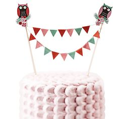 Party Ark's 'Patchwork Owl Cake Bunting'
