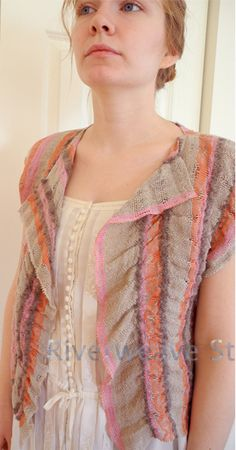 handwoven cloth made into a vest -- by Kathleen Aaker/Riverweave, via Flickr