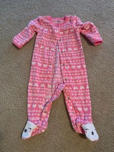 49178862ea7 Baby Girl Just One You Fleece Sleeper Sz 9 Months  fashion  clothing  shoes