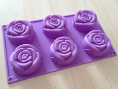 Cake Mold Soap Mold 6 Rose Flower Silicone Mould for Candy Chocolate | eBay