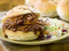 Tangy Pulled Pork Sandwiches & Coleslaw
