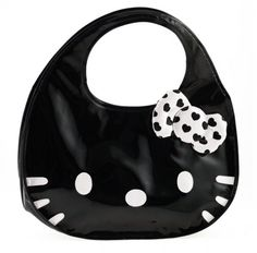 Hello Kitty face black purse