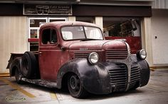 A rat rod is a style of hot rod or custom car that, in most cases, imitates (or exaggerates) the early hot rods of the and Dodge Pickup Trucks, Rat Rod Pickup, New Trucks, Cool Trucks, Truck Drivers, Custom Trucks, Custom Cars, Chrysler Trucks, Classic Chevy Trucks
