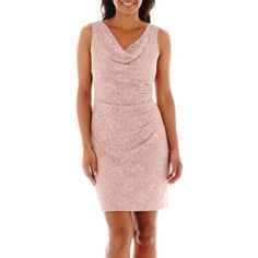Hailey Logan Cowl Neck Lace Dress - JCPenney
