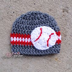 Crochet Sports Beanie  Baseball Basketball Football  Team by FoxsYarnBarn