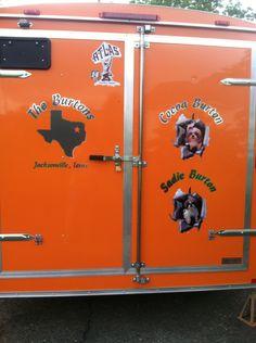 The back of our cargo trailer, Carrollton Ohio 2015