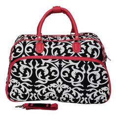 World Traveler Damask 21 in. Carry-On Duffel Bag - 812014-501-B