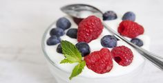 Nonfat Plain Yogurt with Nuts or Fruit. 10 Healthy Snacks - New York Nutritionist - Carly Feigan, CN Presents the Head to Health Weight Loss Program