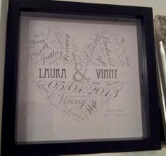 Custom Couples Heart Print made to your colours.    30.00
