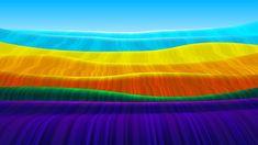 Wave Pattern, Clipart, Art Images, Vector Art, Waves, Rainbow, Free, Design, Tela