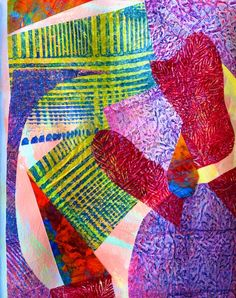 monotype collage by Polly Castor