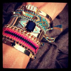 Arm party by #LumaJewels ! #fashionjewels #bracelets #madeinFrance #armparty