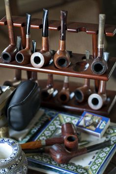 Oh, the wonderful sensorial memories I have  of my Grandfather, my uncles, and Robbie with their pipes. The aroma that enveloped me and made me feel safe and happy. Not bad at all. It will never leave me.