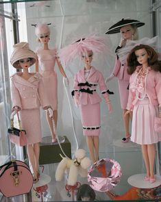 I love these dolls  Vintage Pink Barbie Doll Collection.