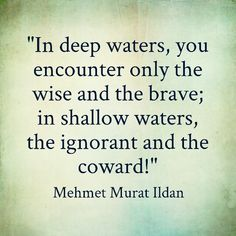Still waters run deep !