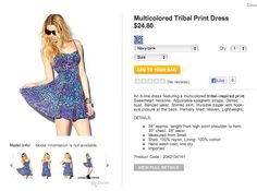 Forever 21 Multicolored Tribal Print Dress
