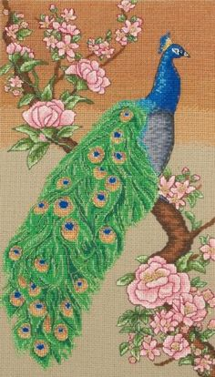 Maia Majestic Peacock Cross Stitch Kit