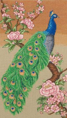 Maia Majestic Peacock Cross Stitch Kit